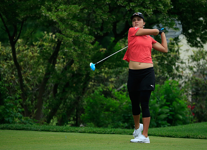 Lexi Thompson was three under on day one.