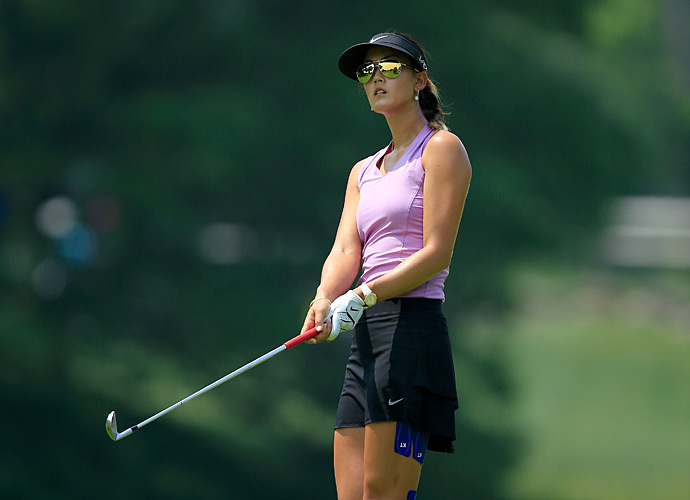 Wie was even through her first nine holes on Thursday.