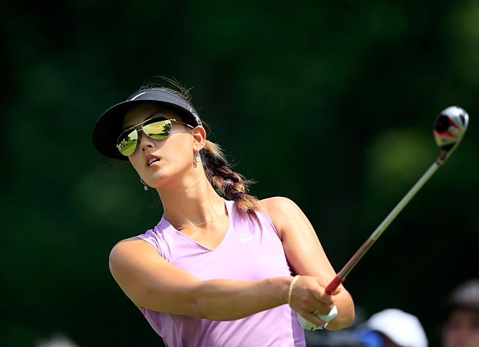Michelle Wie is looking for her second major victory this week.