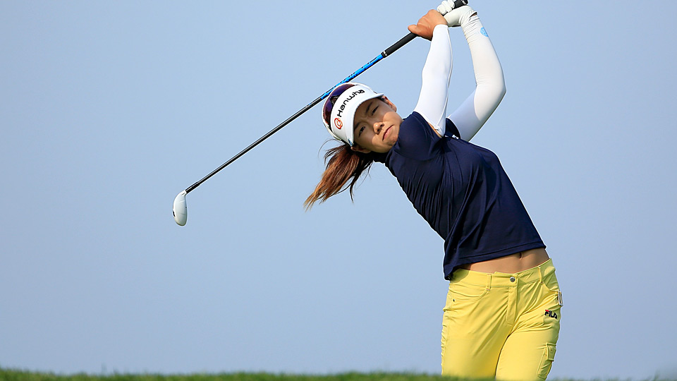 Jenny Shin during the first round of the Women's PGA Championship.