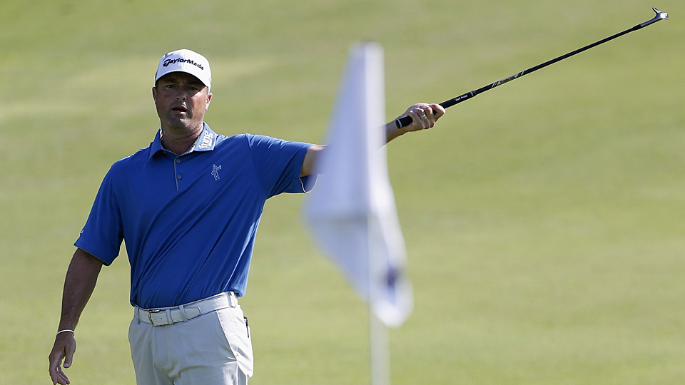 Ryan Palmer fired a six-under 64 on Thursday.