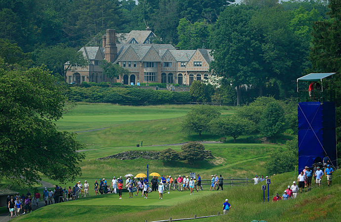 Players on the 7th tee during the 2015 KPMG Women's PGA Championship.