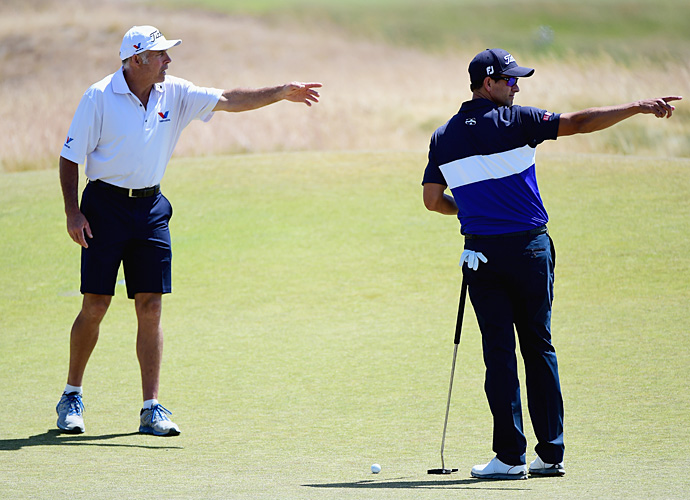 Steve Williams came out of retirement to carry Scott's bag this week.