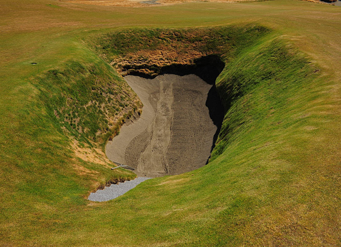"This bunker at Chambers Bay -- so deep it requires stairs to enter and exit -- is known as ""Chambers Basement."""