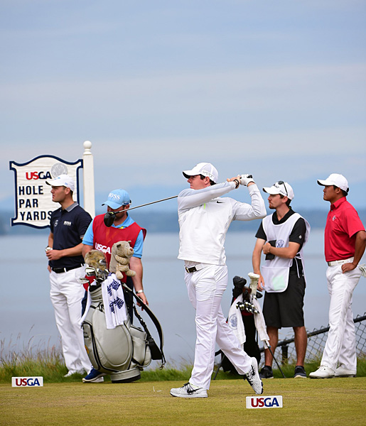 Rory McIlroy was two over par on day one at the 2015 U.S. Open.