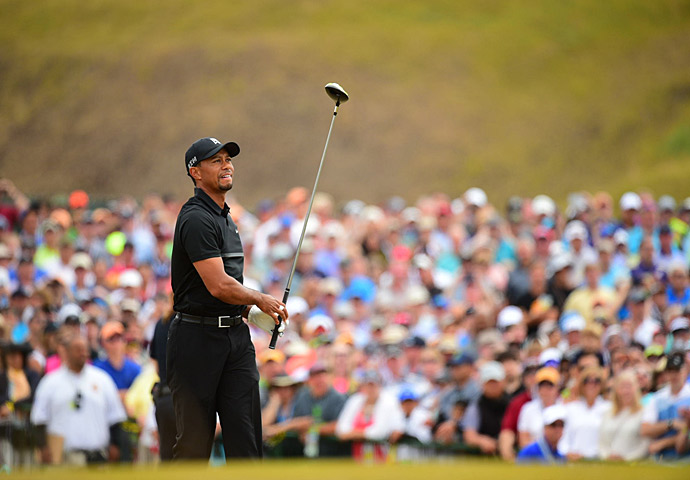 Tiger Woods' recent struggles continued Thursday at the U.S. Open.