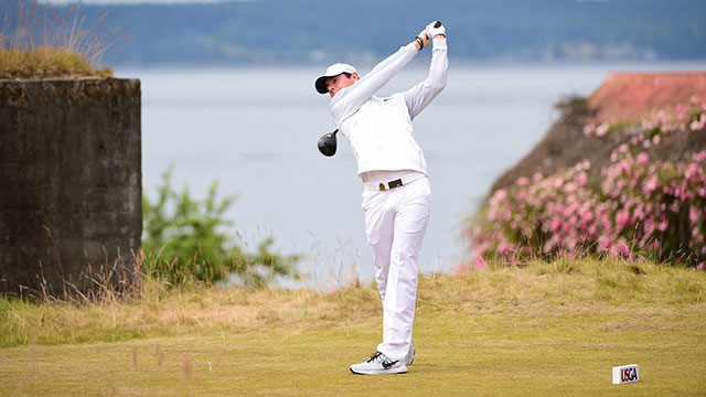 Rory McIlroy shot a two-over 72 in the first round at Chambers Bay.