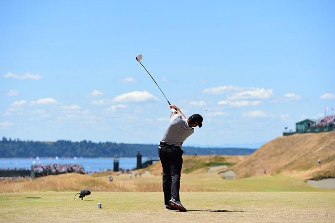 Despite battling vertigo, Jason Day shot a two-under 68 to tie for the lead at four under.