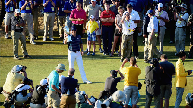 Jordan Spieth won his second consecutive major Sunday at Chambers Bay.