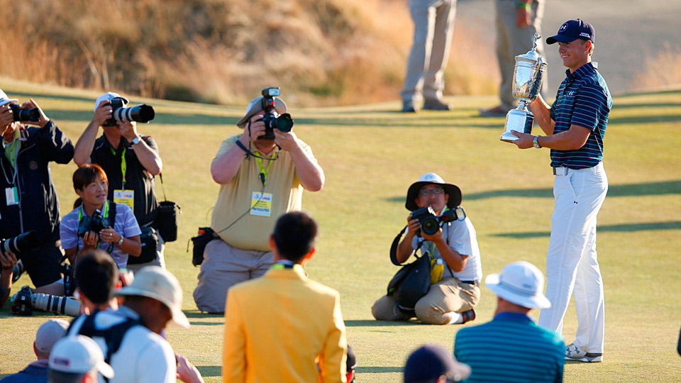 Jordan Spieth after his big win at Chambers Bay.