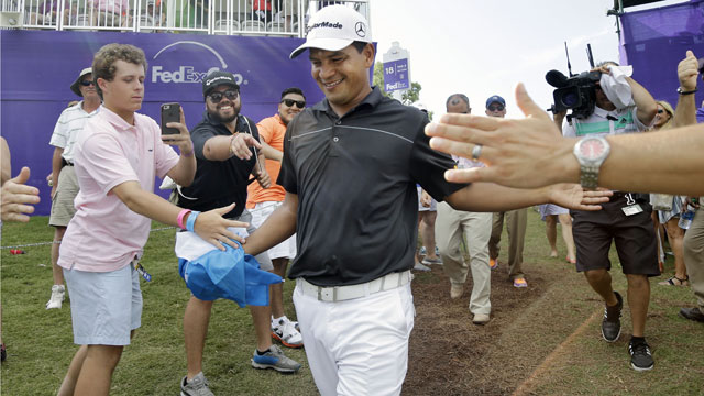 Fabian Gomez won this year's FedEx St. Jude Classic in Memphis.