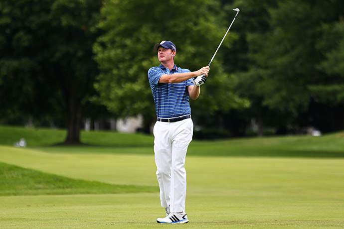 Brandt Snedeker shot a 63 in the third round to get within three shots of the lead.