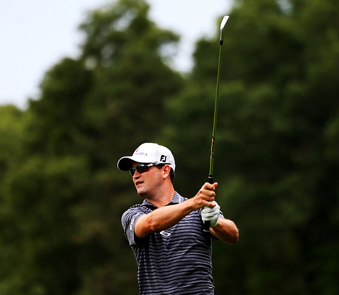 Zach Johnson fired a 64 on Saturday to get into contention.