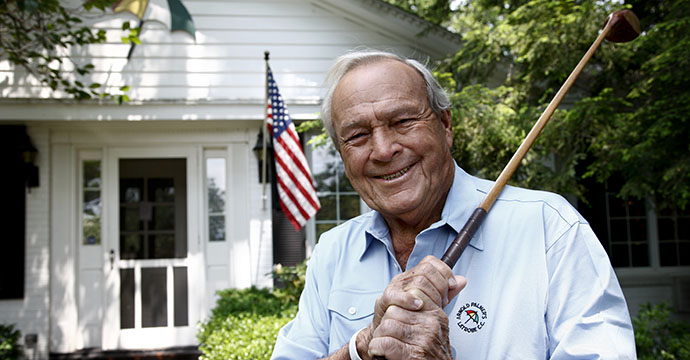 Arnold Palmer at his home in Latrobe, Pennsylvania.