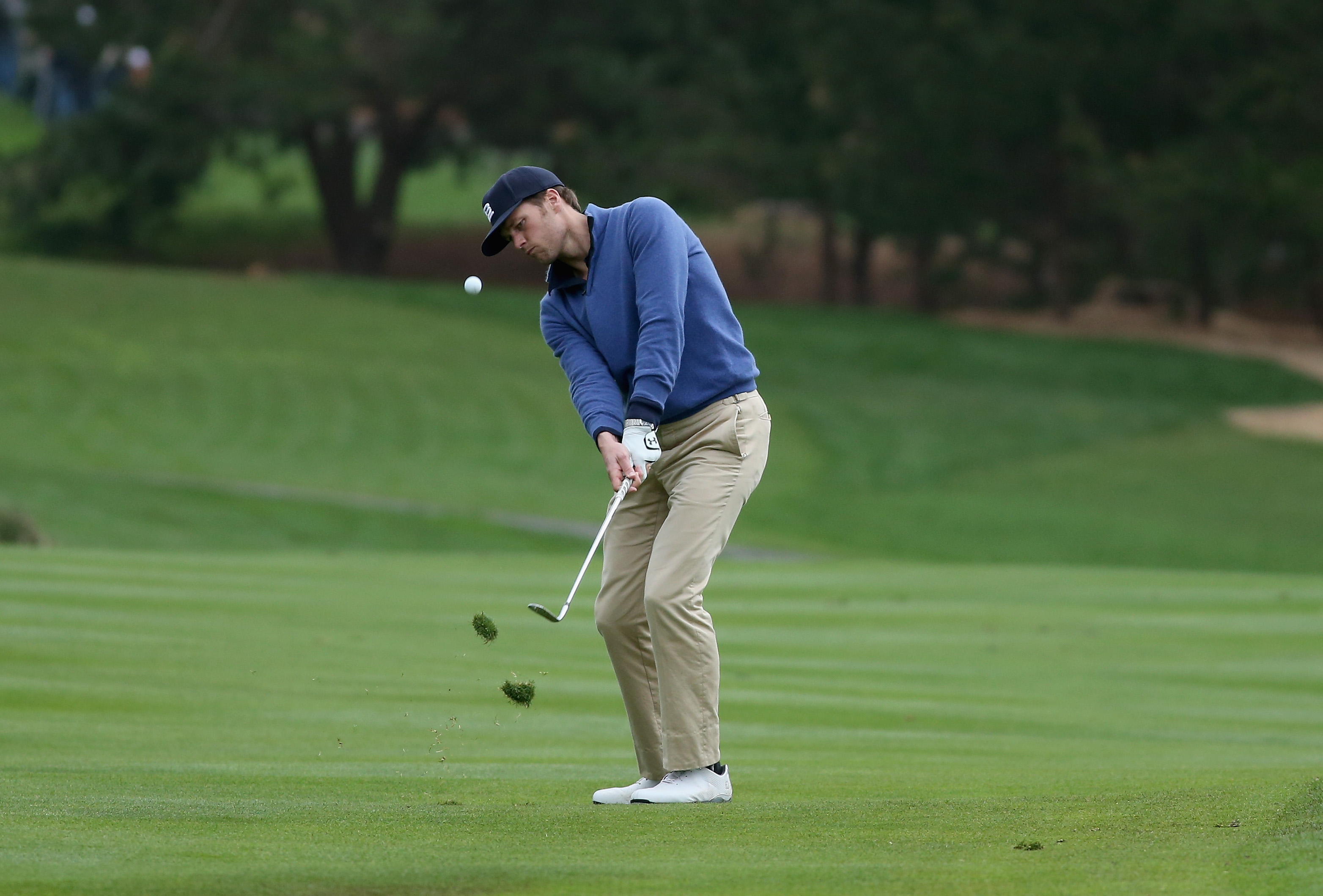 Tom Brady during the third round of the 2014 AT&T Pebble Beach National Pro-Am.