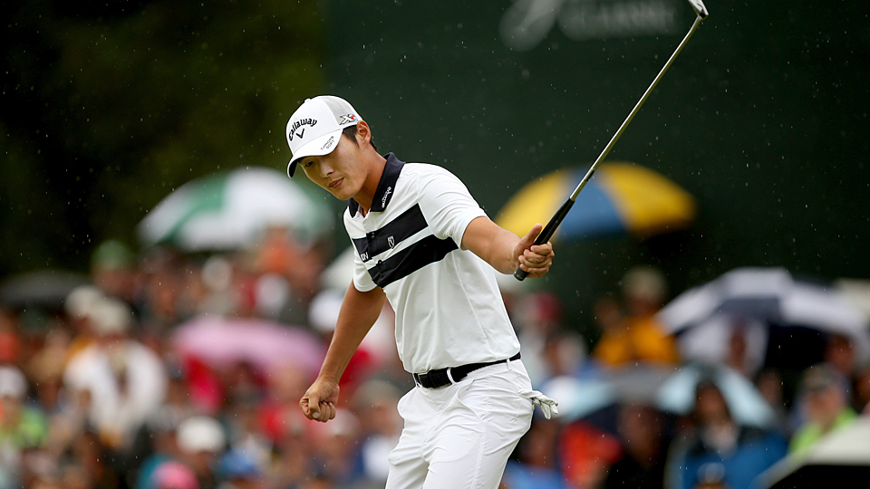 Danny Lee survived a four-man playoff to win the Greenbrier Classic.