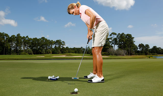 Test your flatstick skills with a series of short putts.