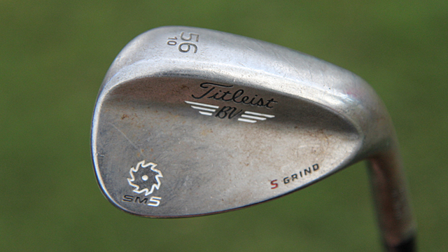 Jordan Spieth's Titleist Vokey SM5 Raw wedge.