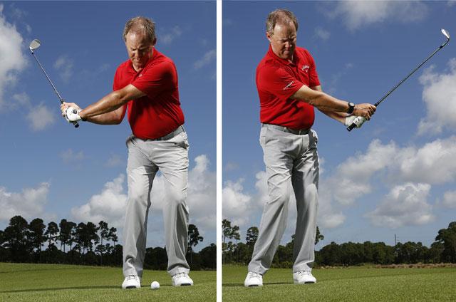 Thumb down golf mine