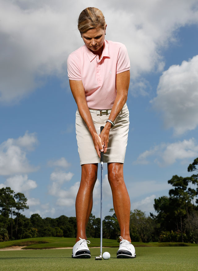 "Steal Arnold Palmer's ""toe-lock"" and get rid of unwanted lower-body motion in your stroke."