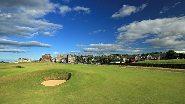 No. 17 at the Old Course, also known as the Road Hole, has challenged golfers all week.
