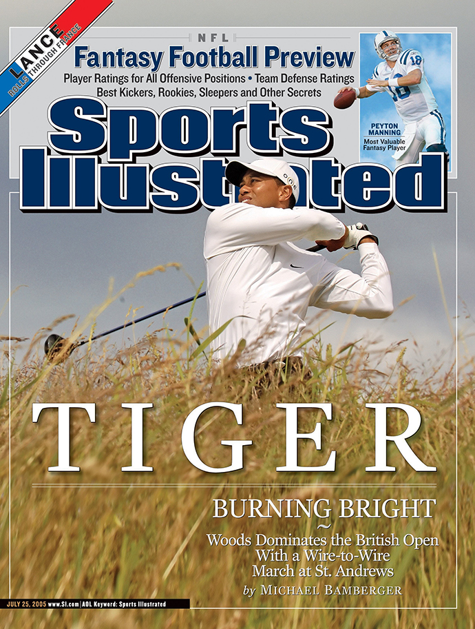 Tiger Woods wins the 2005 British Open at St. Andrews.