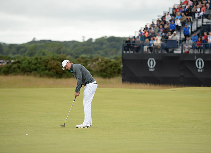 Spieth was four under through his first six holes.