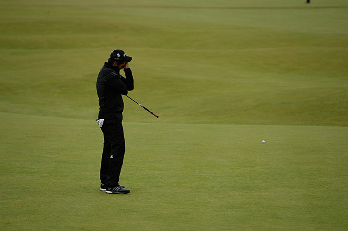 Jason Day fell short of the playoff when he missed a birdie putt on 18.