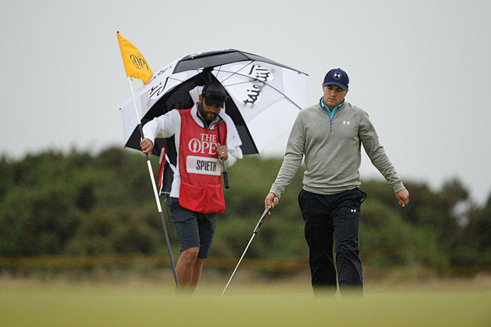 Jordan Spieth at St. Andrews, who only narrowly missed a chance to extend his Grand Slam bid.