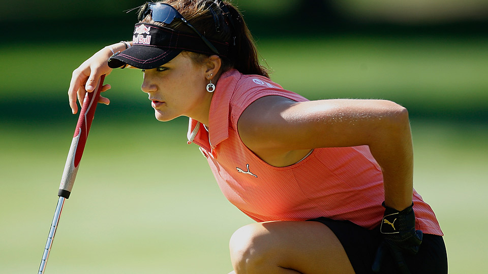 Lexi Thompson during the first round.