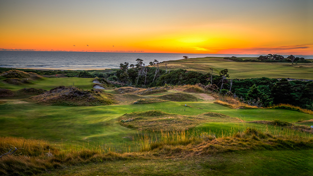 A scenic view of the 9th hole at the resort's 13-hole par-3 course Bandon Preserve.