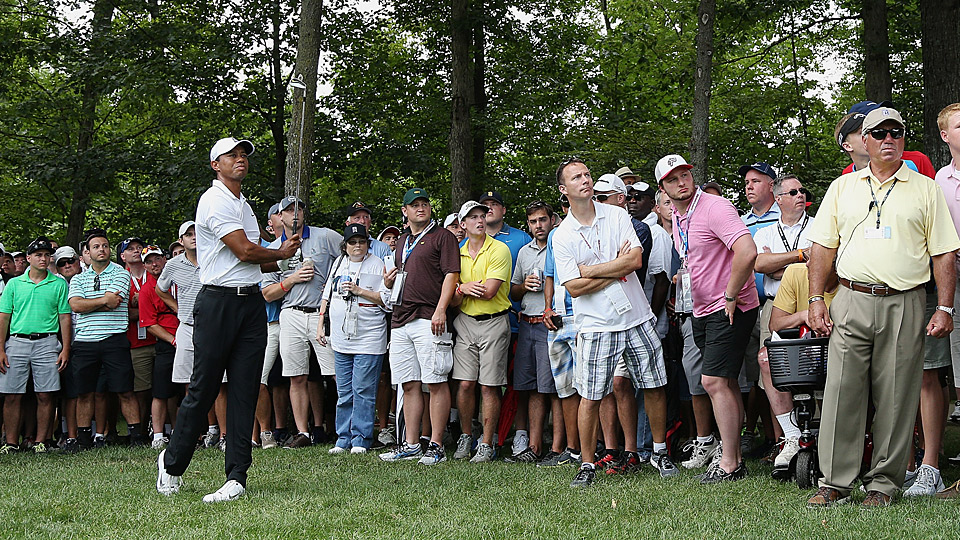 Tiger Woods during the first round at the 2015 Quicken Loans National.