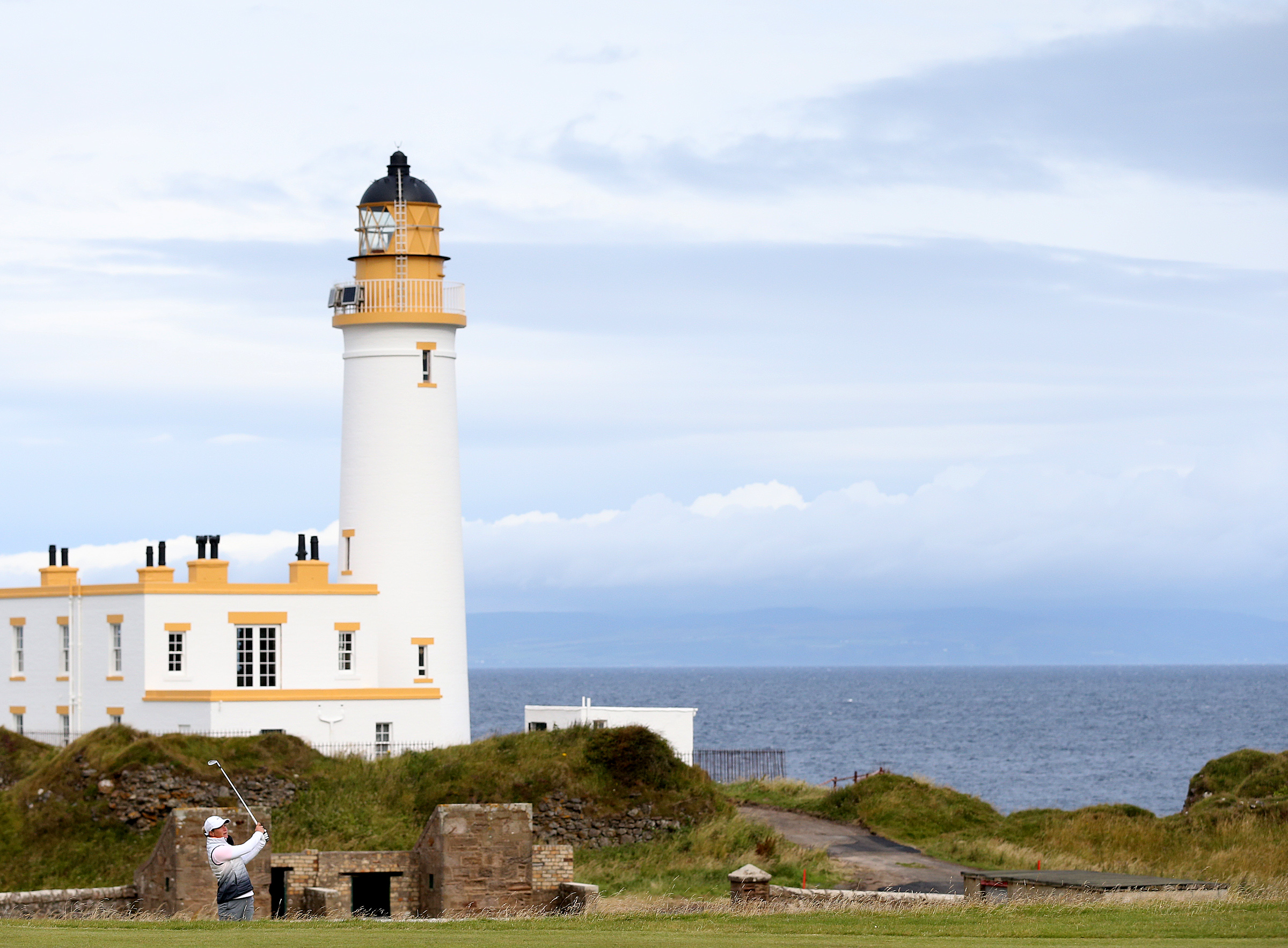 Suzann Pettersen on the 9th fairway during the second day of the Women's British Open at Turnberry.