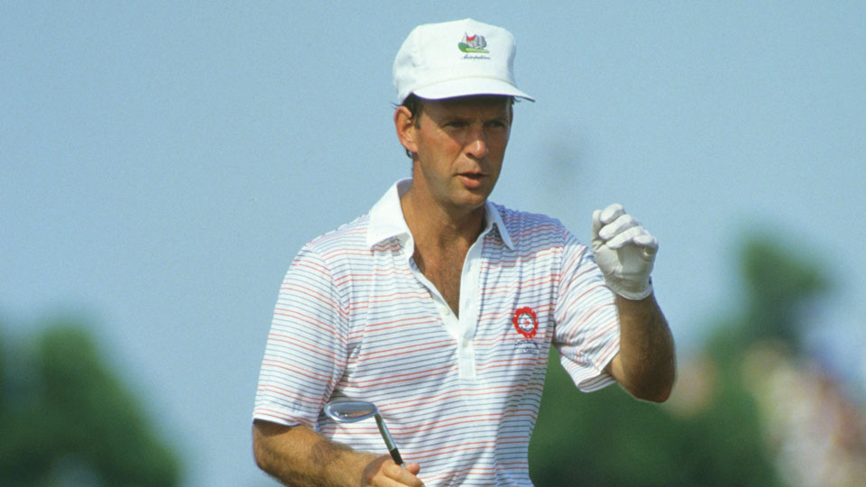 Larry Nelson during the 69th PGA Championship held at PGA National Golf Club in Palm Beach Gardens, Florida. August 6-9, 1987.