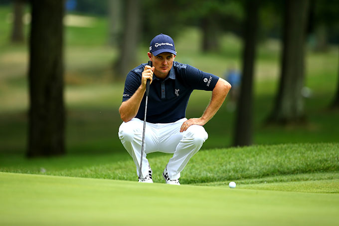 Justin Rose faltered in the final round and carded a 2-over 72 to finish four shots back.