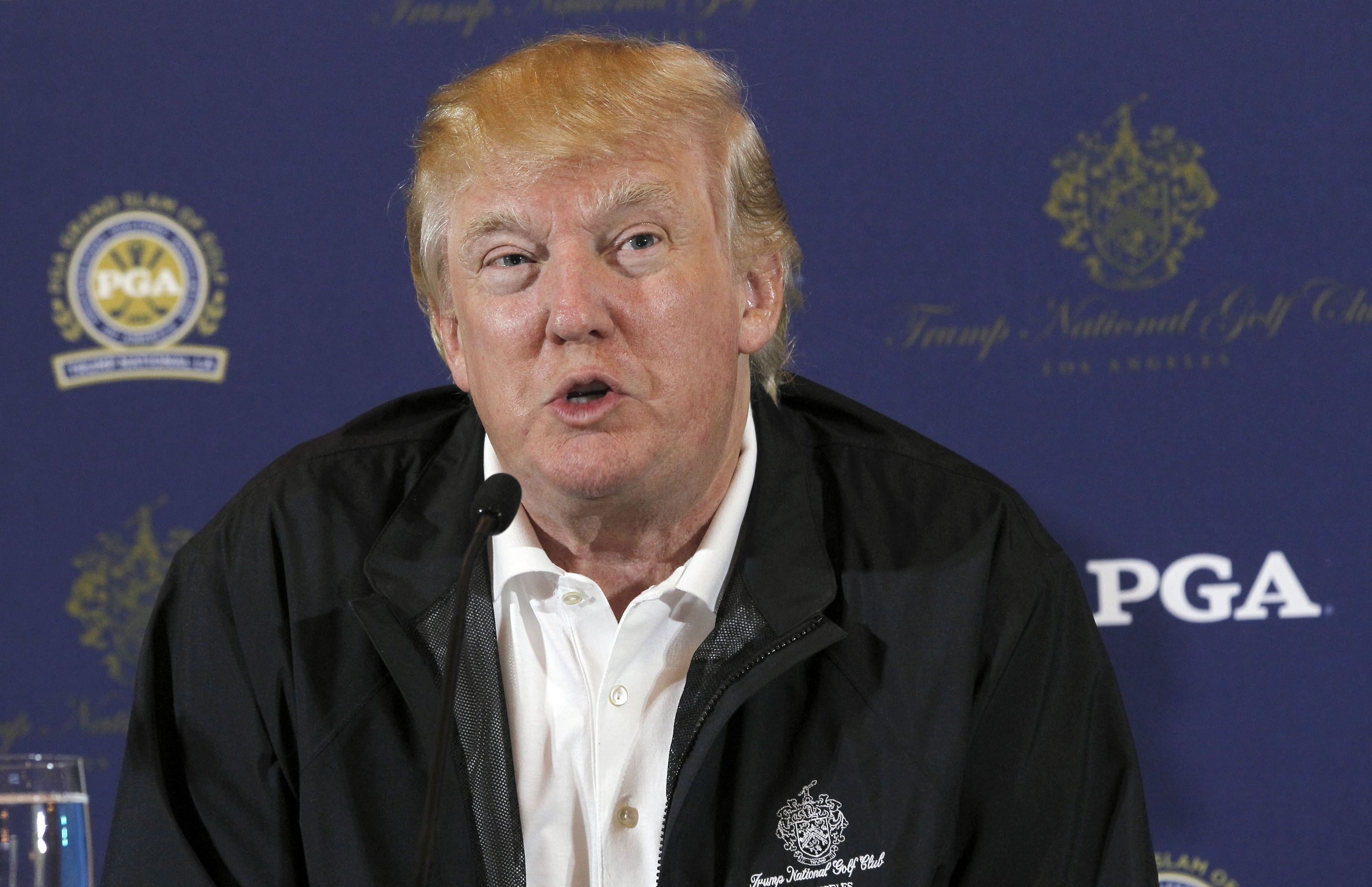 Donald Trump says the PGA Tour has not told him it plans to move from his Doral course in Miami.