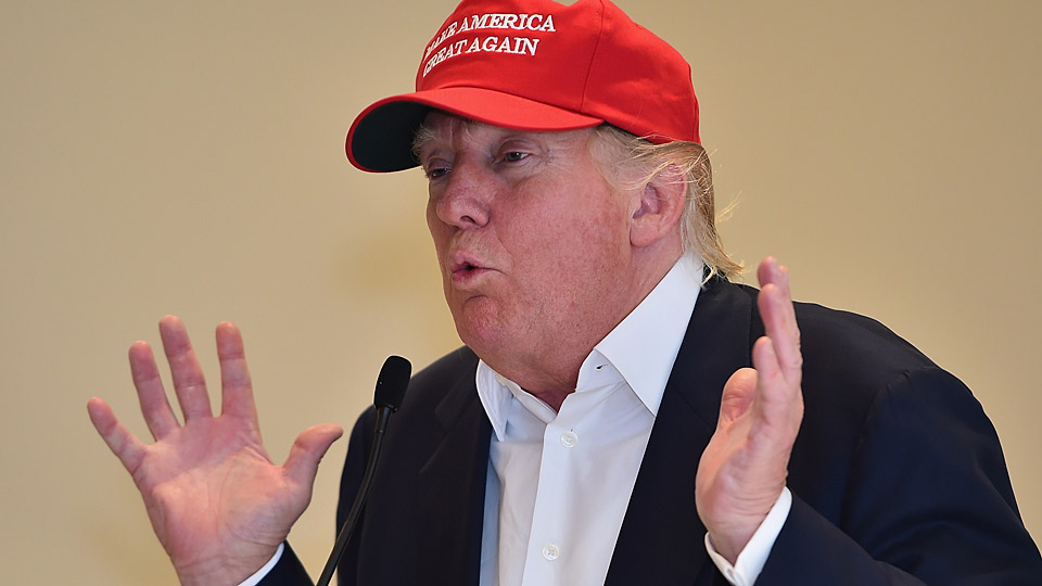Donald Trump during a recent appearance at Trump Turnberry in Scotland.