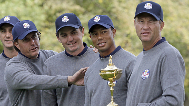 Love led the losing 2012 Ryder Cup team, which included Woods.