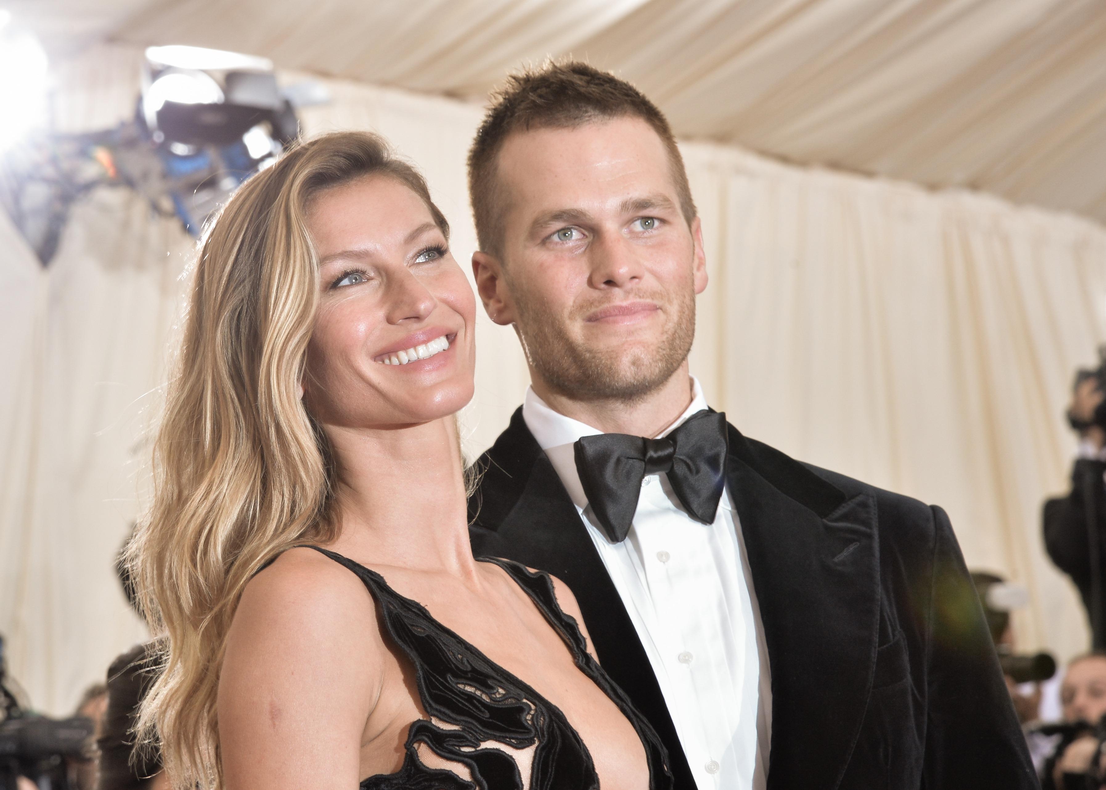 New England Patriots quarterback Tom Brady and his wife Gisele Bundchen.