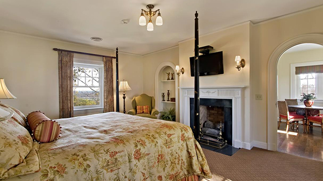 The mansion features four king guest rooms with separate living and dining rooms.