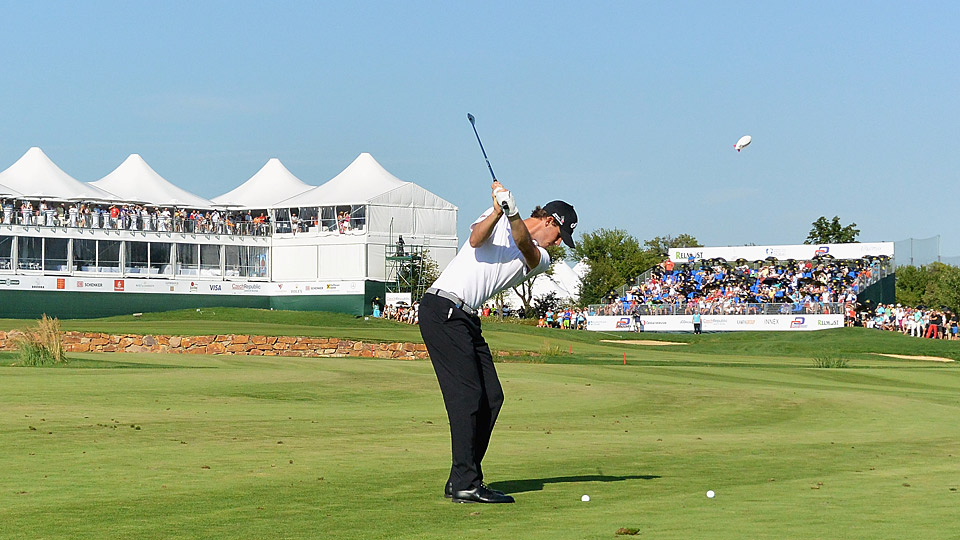 Thomas Pieters during the third round of the Czech Masters.