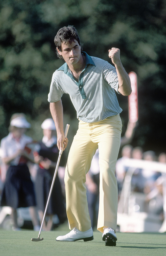 David Feherty reacts during the Bob Hope Classic Golf Tournament held at the Moor Park Golf Course in Rickmansworth, circa September 1983.