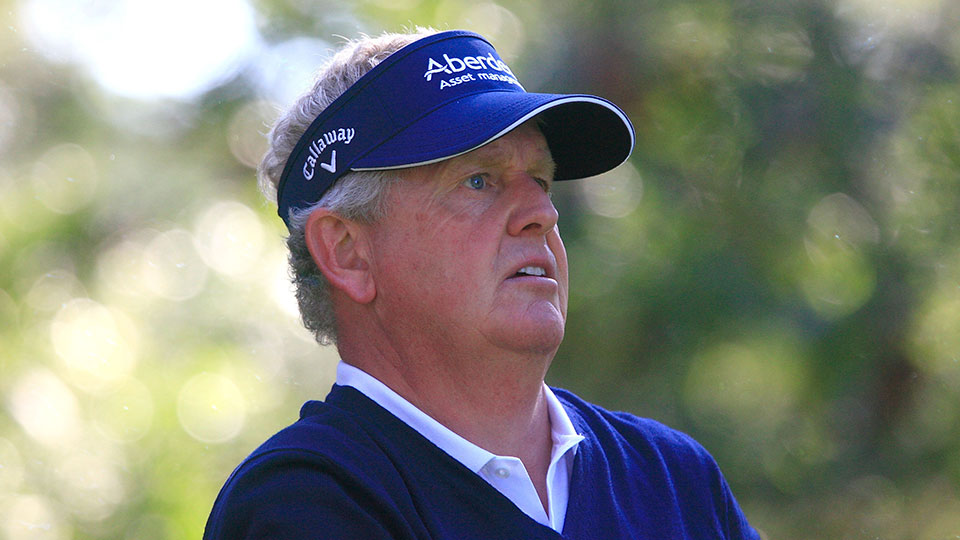 Colin Montgomerie of Scotland in action during the final round of the Travis Perkins Masters played at the Duke's Course, Woburn Golf Club on September 6, 2015 in Woburn, United Kingdom.