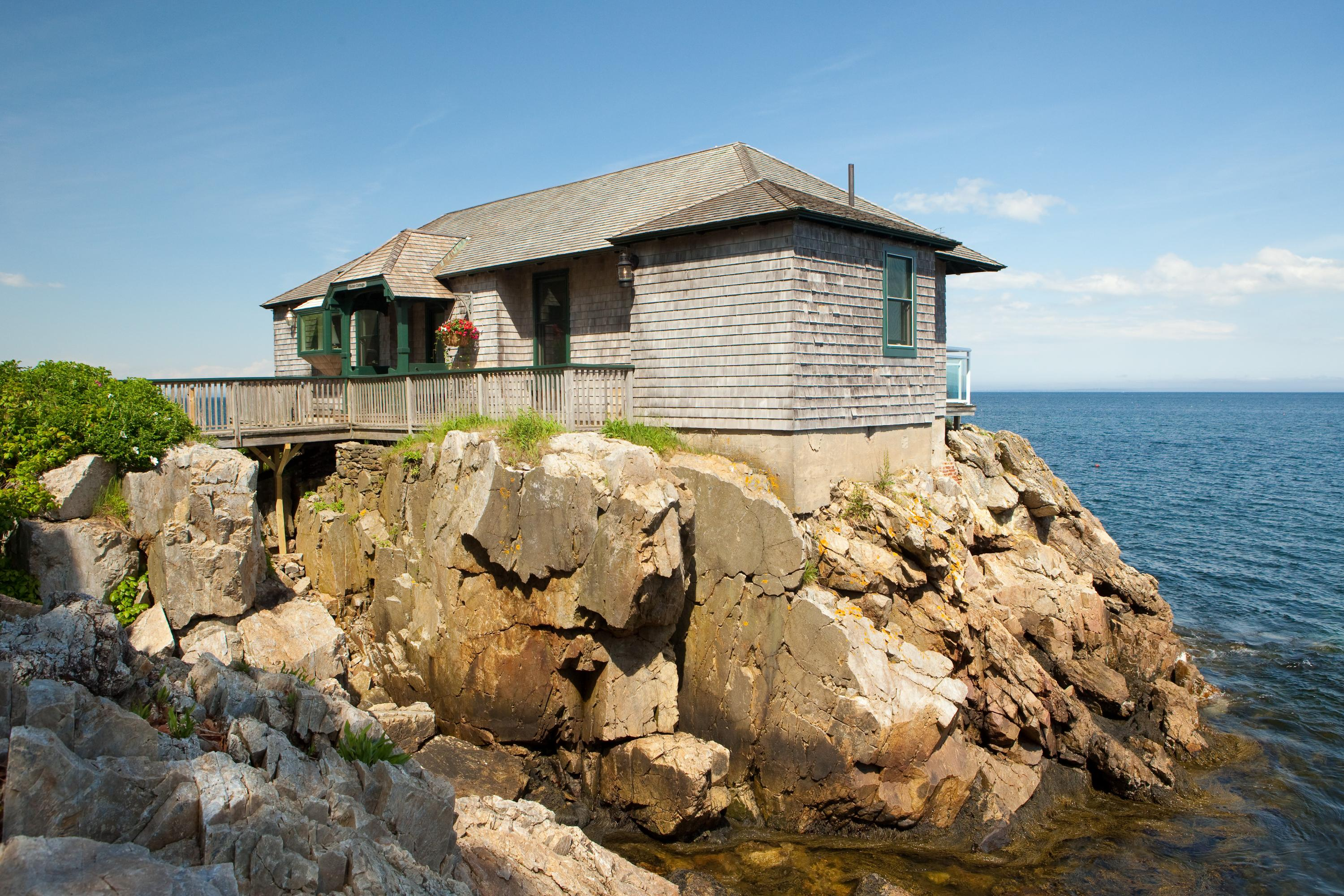 Samoset Resort's Flume Cottage could not get closer to the Atlantic Ocean.