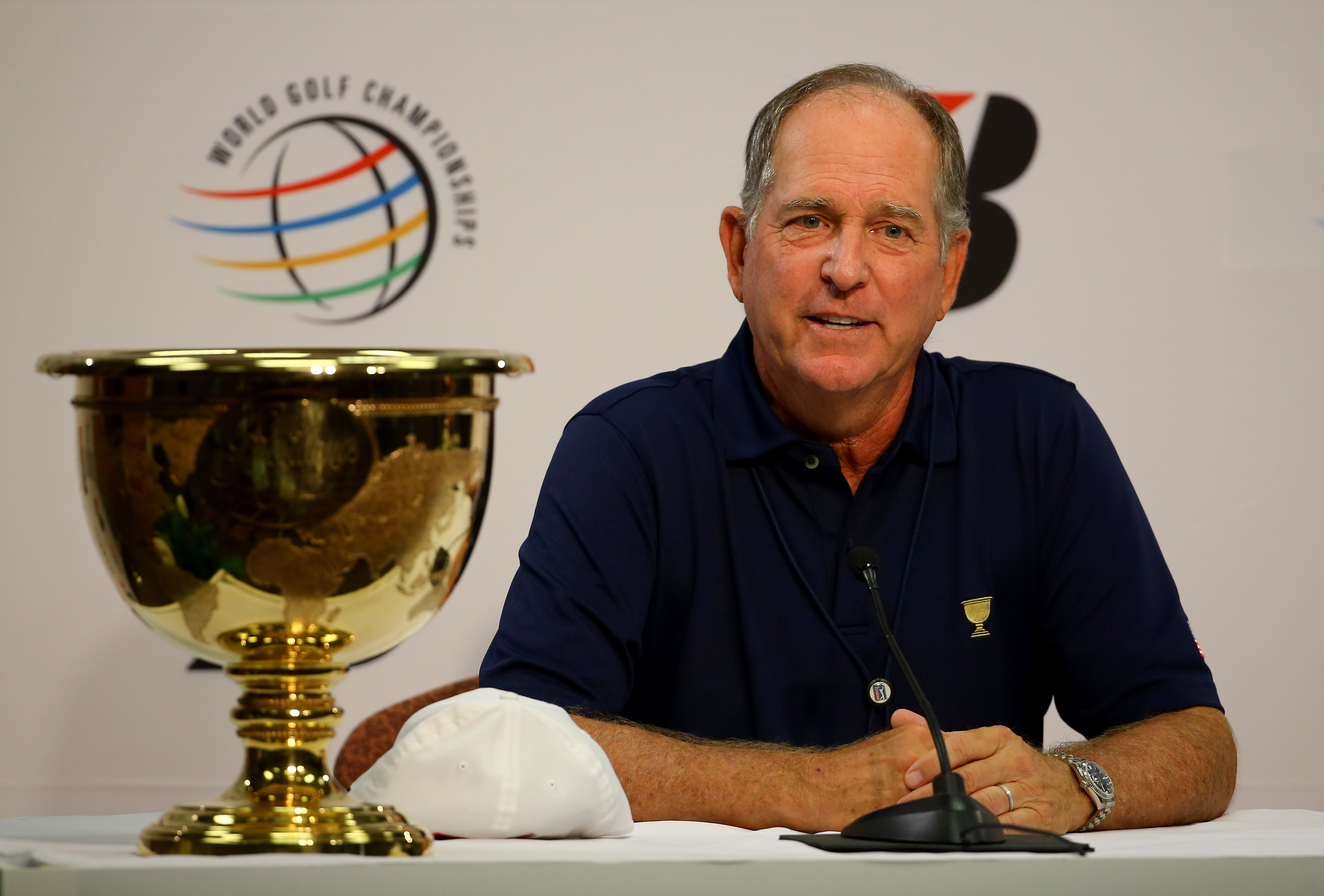 Jay Haas will captain the U.S. Presidents Cup team in Korea next month.
