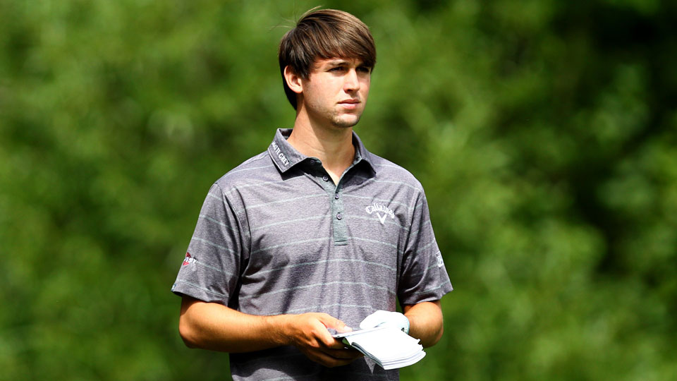 Ollie Schniederjans does not have status on the PGA Tour, but has made the cut in four of five tournaments this season.
