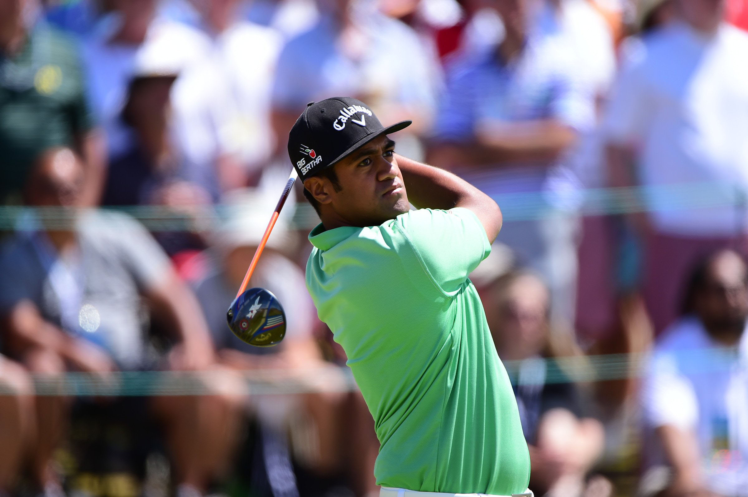 Tony Finau finished T14 in his very first major championship, at the U.S. Open at Chambers Bay.