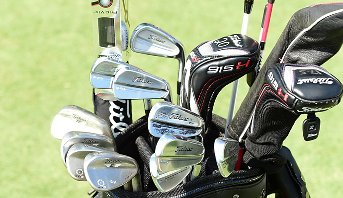 Charley Hoffman has a full bag of Titleists, including MB Forged irons.