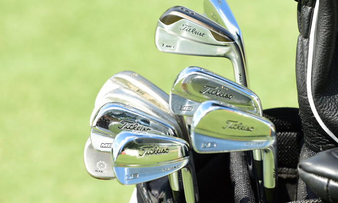 Jimmy Walker plays new Titleist MB Forged irons.