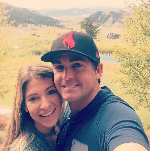 Had the best time with @jillianfstacey in Jackson hole. #happiness #fiance #gettingahangin